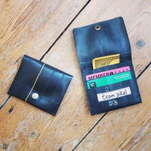 Handmade inner tube wallet